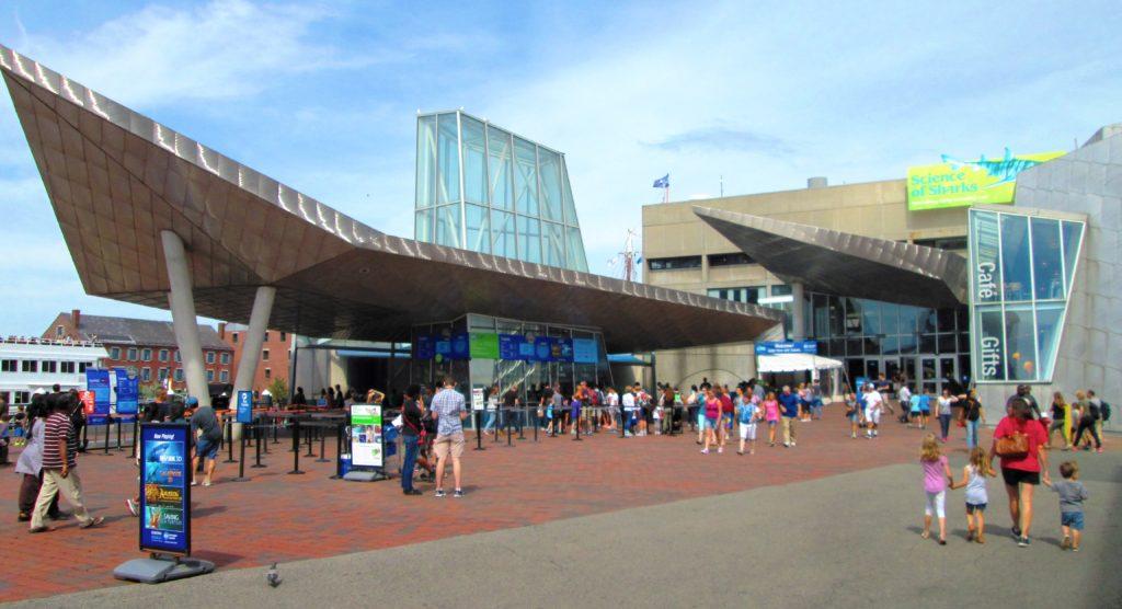 this image shows new england aquarium in boston